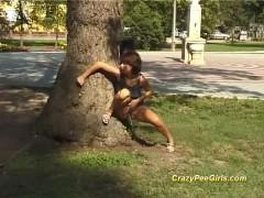 cute teens peeing in public