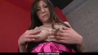 Big tits, Ayami, tries dildo up her tight pussy  vibrator pussy hot-milf uniform nice-ass adult-toys masturbation shaved-pussy sexy-lingerie javhd masturbate busty