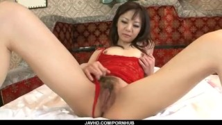 Extreme solo with milf in lingerie Hikaru Aoyama  vibrator tiny-tits hot-milf hairy-pussy uniform small-tits solo-girl tits adult-toys sexy-lingerie javhd masturbate