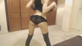 miss alice - teen dancing striptease very hot