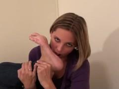 Kara Kinky Foot Self Toe Suck
