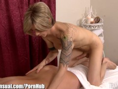 TransSensual MILF Fucked by Well Hung TS Masseuse