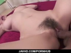 Busty milf, removes lingerie to have rough sex