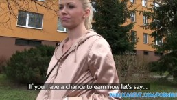 PublicAgent Married blonde takes cash for sex