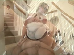 Slutwife on the Stairs