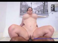 Angelina astro fucking huge black cock!