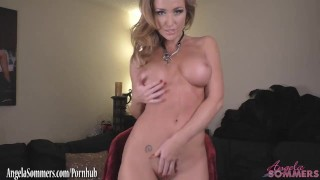 Angela Sommers jerk off encouragement all naked