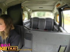 : FemaleFakeTaxi Nervous farmer can't satisfy driver