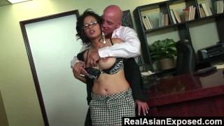 RealAsianExposed - Jessica Bangkok Is the Best Secretary Ever doggy-style big-ass hardcore asian blowjob office jessica-bangkok babe glasses realasianexposed secretary big-tits cunnilingus reverse-cowgirl trimmed facial
