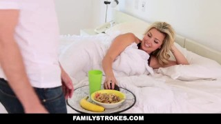 FamilyStrokes - Mothers Day Threesome With Step-Mom adria 3some bigtits blonde threesome small-tits smalltits step-mother brunette step-mom danica step-daughter familystrokes facialize busty petite group facial