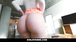 SisLovesMe - My Stepsister is Always Horny  step-brother blonde missionary hardcore smalltits cowgirl step-sister shaved step-sis sislovesme bigcock step-sibling doggystyle amy-summers cumshto
