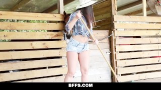 BFFS - Hot Country Girls Share A Cock orgy hardcore blonde shaved cumshot group-sex smalltits brunette cowgirl missionary facialize bigcock bffs group facial doggystyle