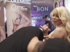 Vitaly ZD at AVN 2016 with Nikki Delano and Ariana Marie Interviews