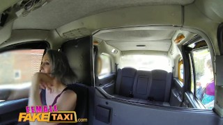 FemaleFakeTaxi Lesbian encounter for posh student