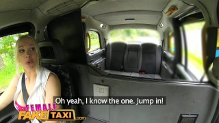FemaleFakeTaxi Busty tit wank makes stud cum hard