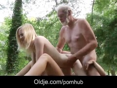 Woodcutter big old cock messing two 18 year old innocent girls