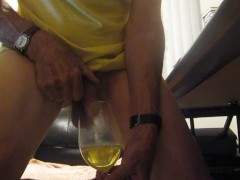 Pissing in a Wine Glass!