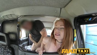 FakeTaxi Posh redhead with big nipples redhead faketaxi rough dogging sexy taxi british blowjob amateur rimming deepthroat spycam ginger uk camera point-of-view facial