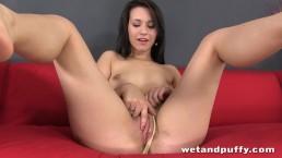 Cute brunette bitch Carrie May