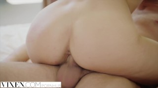 blonde vixen blowjob riding cowgirl reverse-cowgirl doggystyle creampie suck sucking step-brother step-sister bikini petite small