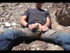 Pissing jeans at a mine