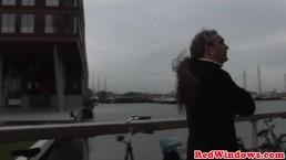 Real dutch hooker treating tourist