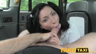 FakeTaxi Naughty lady in sexy uniform small faketaxi rough sexy amateur blowjob gagging rimming uniform deepthroat spycam public car pov reality camera point-of-view petite