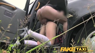 FakeTaxi Naughty lady in sexy uniform  point-of-view small sexy amateur blowjob public pov camera faketaxi rimming spycam car reality petite rough gagging uniform deepthroat