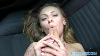 PublicAgent Petite Russian with great tits takes cock for cash  real-public-sex doggy-style russian blonde-big-tits hardcore car-sex publicagent blowjob amateur cumshot big-tits public outside pov reality czech