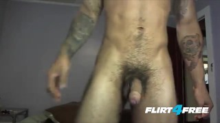 Preview 3 of Tatted and Toned Samir Hott Puts His Big Cock to Work