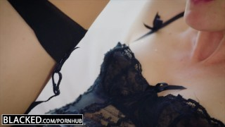 BLACKED Hot wife cuckolds hubby with young black neighbor  lingerie bbc riding cuckold blonde ass-to-mouth squirting reverse-cowgirl atm gape heels blacked anal stockings facial blue-eyes