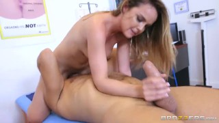 Brazzers - Dillion Harper has fun with doctor  big-cock cock-sucking work blonde blowjob doctor big-boobs fake-tits brazzers fishnets office butt deepthroat spit desk gyno