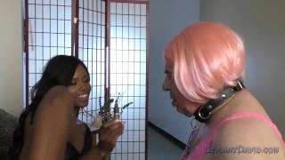 Jezabel Vessir Femdom  interracial kink black-on-white footworship ebonydomme black-mistress ebony black
