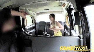 FakeTaxi Petite teen with big tits gets dick  faketaxi sexy amateur blowjob british teen deepthroat spycam big-tits public car pov reality oral camera point-of-view