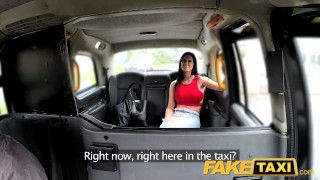 FakeTaxi Hot sexy big tits and tight jeans  taxi british big-tits outside oral point-of-view amateur blowjob prague public fake-tits pov camera faketaxi spycam car reality czech huge-fake-tits