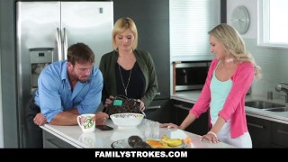 Preview 2 of FamilyStrokes - Don't Tell Mom I fucked My Step-Dad