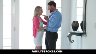 Preview 5 of FamilyStrokes - Don't Tell Mom I fucked My Step-Dad