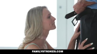 Preview 6 of FamilyStrokes - Don't Tell Mom I fucked My Step-Dad