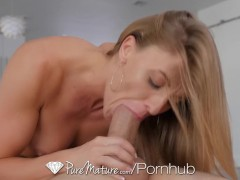 PureMature - Hot and horny house wife Kate Linn fucks her husband's...