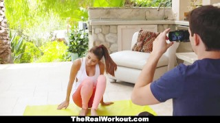 TeamSkeet - Teen Yoga Trainer Seduces Nerd  cumshot big-boobs fitness therealworkout spandex teamskeet bigtits hardcore workout brunette cowgirl shaved bigcock naturals doggystyle nina-north