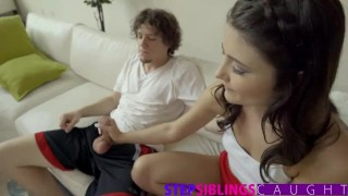 StepSiblingsCaught - Step-Brother And Sis Get It On - FULL VIDEO  step-siblings babe shaved-pussy blowjob cumshot tiny-teen skinny hardcore stepsiblingscaught smalltits step-sister step-bro step-sis bigcock brother doggystyle