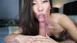 kinky asian cocksucker works up a fat load [ blowjobs sex, step sis/mom]