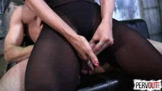Arena Caught a New Slave sensual-femdom lance-hart edging-handjob pantyhose cum-on-pantyhose kink leotard arena-rome pantyhose-leotard sweetfemdom ass-worship fishnets