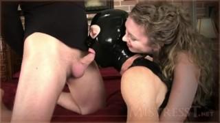 Mistress T - cuck gimp suck cock and licks all  kink bisexual-cuckold femdom