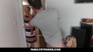 FamilyStrokes - Scavenger Hunt With Step-sis turns sexual  step-siblings clothed-sex step-brother pale redhead blonde cfnm cumshot hardcore natural-tits smalltits familystrokes step-sister stepsis bigcock facialize facial doggystyle zelda-morrison