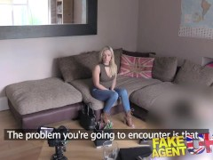 FakeAgentUK Petite Scottish stripper gets deep pussy fucking in cas...