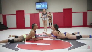 Preview 2 of Tag-Team Erotic Lesbian Wrestling