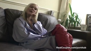 Preview 6 of Couples Christmas fuck with anal and sex toys