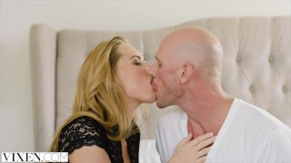 VIXEN Hot assistant Carter Cruise Lets her Boss Do Whatever he Wants to her  lingerie riding big-cock vixen romantic-sex blonde blowjob deep-throat cowgirl reverse-cowgirl spooning passionate-fuck big-dick stockings doggystyle facial