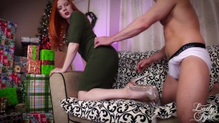 Creampie Cuckolding -Cucky Christmas by Lady Fyre Femdom POV Humiation redhead femdom milf creampie-eating cei cuckold-humiliation lady-fyre holiday christmas creampie pov big-dick cuckold laz-fyre point-of-view xmas